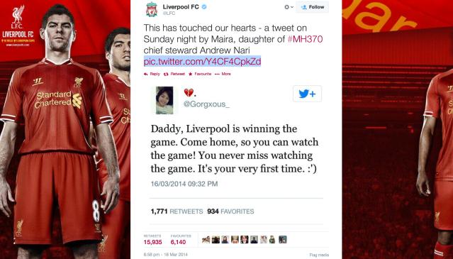 LFC's retweet